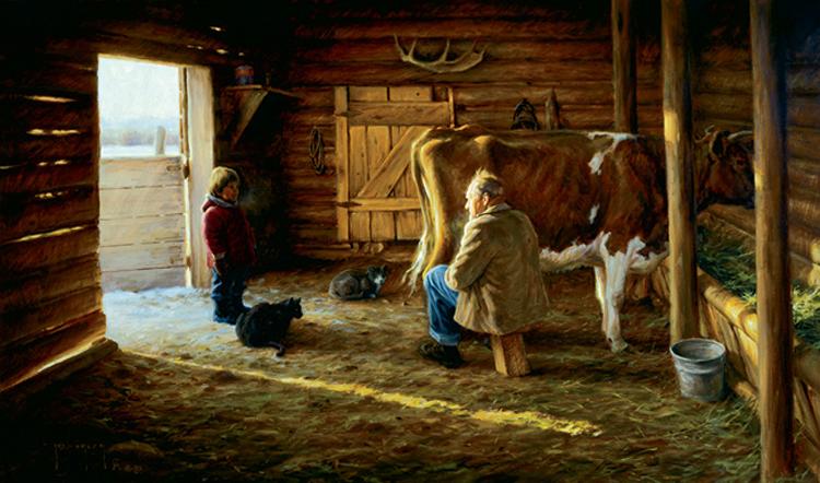 grandpas milk cow