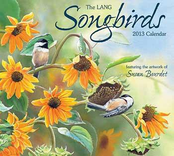 songbirds 2013 wall calendar