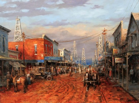 Boom_Town_Andy_Thomas_HD_GICLEE_Art_Print_oil_painting_on_