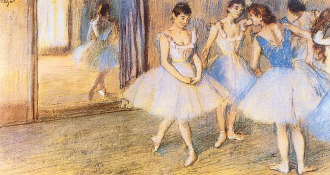 edgar degas dance greenroom