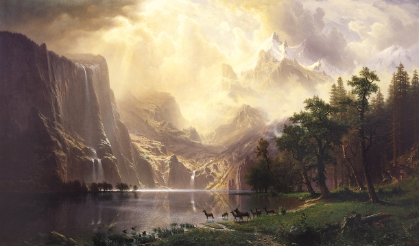 Albert_Bierstadt,_Among_the_Sierra_Nevada_Mountains