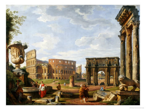 giovanni-paolo-pannini-a-capriccio-view-of-rome-with-the-colosseum-the-arch-of-constantine-1743_i-G-14-1423-GR5R000Z