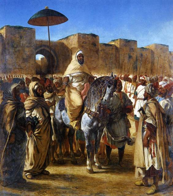 muley-abd-ar-rhaman-the-sultan-of-morocco-leaving-his-palace-of-meknes-with-his-entourage-1845(1)